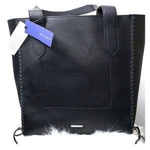 NWTs REBECCA MINKOFF • Black Red Panama Tote Bag